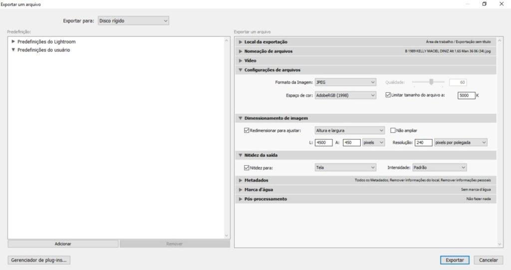 Blog IpsisPro Configurações-lightroom-1024x541 Como exportar fotos em alta resolução no Lightroom? Aprenda em poucos passos